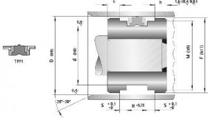 Schita Garnituri Hidraulice Pentru Piston Tip TPM